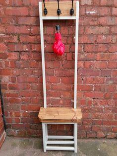 Narrow Hallway Coat Stand With Seat Shoe Storage Bijou