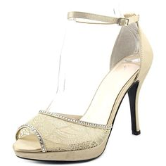 Caparros Wynn Women Open-Toe Canvas Ivory Slingback Heel -- You can find more details by visiting the image link.