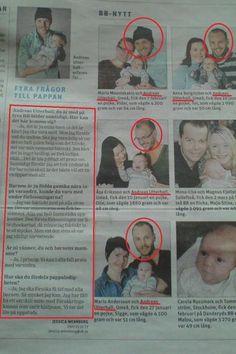 """BB-Nytt * Fyra frågor till pappan * Andreas Utterhall och hans fyra familjer... * """"-Är ni vänner, du och barnens mammor? ..... -Ja, i princip. Vi kan i alla fall prata med varandra."""" * :o"""