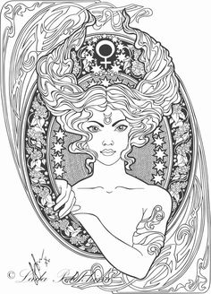 Taurus Zodiac beauty colouring page   Coloring pages ...