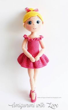 crochet doll Once Upon A Crochet Lovely Ballerina! Free Pattern (in Turkish): Amigurumi Ballerina Doll - Briar wants to take up dance, thinks she's a little ballerina, might have to make her one of these. ABOUT I crochet stuff. My Most Beautiful Knitting: Crochet Amigurumi, Crochet Doll Pattern, Amigurumi Patterns, Amigurumi Doll, Doll Patterns, Knitted Dolls, Crochet Dolls, Crochet Crafts, Baby Knitting