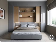 Bedroom Storage For Small Rooms - Unity Fashion Room Design, Home, Small Bedroom Storage, Bedroom Storage, Small Apartment Bedrooms, Apartment Decor, Bedroom Renovation, Modern Bedroom, Bedroom Bed Design