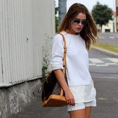 Lv Handbags, Louis Vuitton Handbags, White Dress, My Style, Stuff To Buy, Dresses, Women, Ideas, Fashion