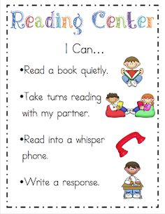 Literacy Center I Can statements
