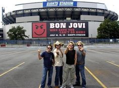 Tico, Richie, Jon & David...Bon Jovi all flying the bird...TY ohmyjovi