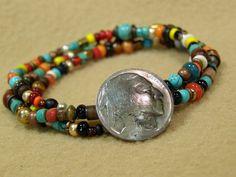 Beaded Indian Nickel Bracelet