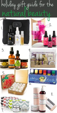 holiday gift guide for the natural beauty buff