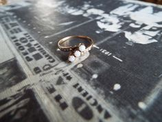 Antique Ring/Victorian Ring/Opal Ring/Seed by ErieCanalCollectors