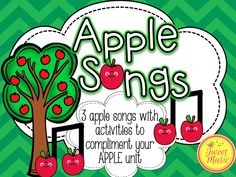 """3 fun apple songs to enhance your Apples theme week! The always popular """"Apples and Bananas"""" is included, with 2 piggyback songs arranged and recorded by Tweet Music. This package comes with a corresponding ELA lesson, and 2 music lessons that any teacher can do with their class. Teaching instructions are included to help with the instruction of the music lessons."""