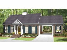 Eplans Country House Plan - One Bedroom Country - 815 Square Feet and 1 Bedroom from Eplans - House Plan Code HWEPL64777