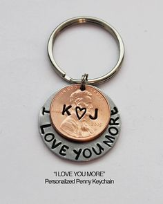 ENGRAVED PENNY. Personalized Penny Keychain. by JewelryImpressions