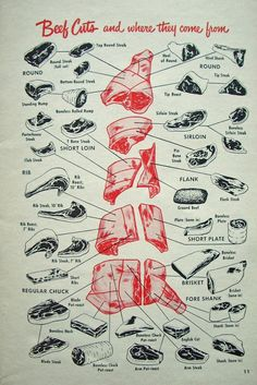beef cuts and where they come from