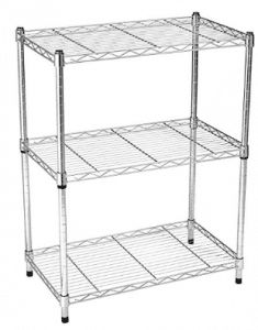 Details about Kitchen Storage Shelf Stainless Steel Chrome 3 Tier Shelves Cooking Rack Cart Utility Shelves, Metal Shelves, Wire Shelving, Storage Shelves, Storage Area, Shoe Storage, Storage Cabinets, Handbag Storage, Drawer Storage
