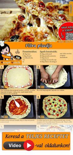 Próbáld ki Flóra pizzáját! Gyors és finom! A Flóra pizzája recept videóját a kártyán levő QR kód segítségével bármikor megtalálod! :) #FlóraPizzája #Pizza #ReceptVideók #Recept
