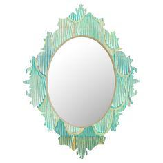 Turquoise Scallops Baroque Mirror