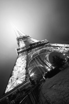 Eiffel tower from a unique angle.