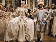Marie Antoinette, look, toned down hair that might work.