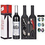 Wine Accessories Gift Set - 5 Pcs Deluxe Wine Corkscrew Opener Sets Bottle Shape in Elegant Gift Box, Great Wine Gifts Idea for Wine Lovers, Friends, Anniversary, Valentine's Day Are you looking for original ideas for a gift for Valentine's day and you can't make a worthy choice? Try this list of best gift ideas which was created by a bunch of geeks who partake in way too much online window shopping.  Valentine's Gift Ideas | Valentine's Gift Ideas for him | valentine's gift ideas for…