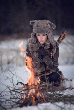 bear cosplay brave female barbarian ranger redhead costume. Black Bedroom Furniture Sets. Home Design Ideas