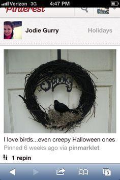 Black Bird Wreath