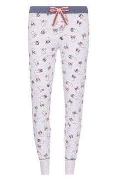 Legging de pyjama gris motif souris