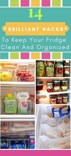 These organizing hacks are THE BEST! I am so happy I found these GREAT organizing ideas and tips! Now I have great ways to organize my home on a budget. So pinning!#organize #clean #diy #fridge #freezer