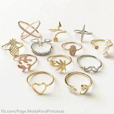 New Jewerly Gold Simple Bijoux Ideas Hand Jewelry, Jewelry Rings, Jewelery, Jewelry Accessories, Jewelry Design, Stylish Jewelry, Simple Jewelry, Cute Jewelry, Cute Rings