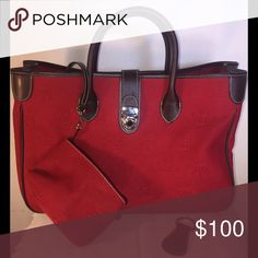 Dooney and Bourke bag Red fabric bag with leather trim and a small  coin purse Dooney & Bourke Bags Totes