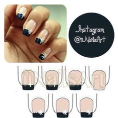 Simple and easy nail design.
