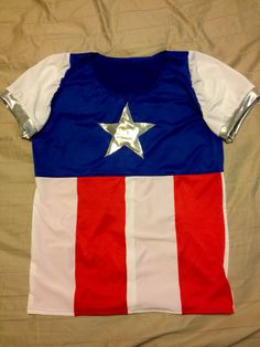 Captain America Inspired Women's Running Shirt on Etsy, $58.00