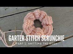 How to knit Scrunchies:Part 1 Easy Knitting Patterns, Free Knitting, Knitting Projects, Baby Knitting, Free Crochet, Knit Crochet, Crochet Patterns, Crochet Humor, Crochet Mandala