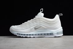 sports shoes f0a77 16be5 2017-2018 Hot Sale Nike Air Max 97 Triple White 921826-101 White Wolf