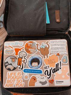 Apple Laptop Stickers, Macbook Air Stickers, Mac Stickers, Preppy Stickers, Cool Stickers, Mac Book, Ipad, Laptop Design, Applis Photo