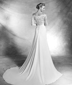 VASILY - Robe de mariée en dentelle, manches longues