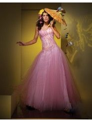 Taffeta Ball Gown Strapless Sweetheart Neckline Beaded Bodice Prom Dress