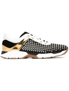 4940218b2b4de RENÉ CAOVILLA Panel Studded Sneakers. #renécaovilla #shoes #sneakers