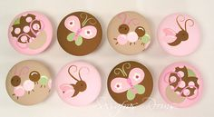 Love Bug Butterfly, Flutterfly, Caterpillar, Ladybug Knobs/Nail Covers