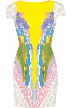 Tibi painterly printed dress