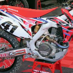 Chase Field in Phoenix, AZ - 2015 Phoenix Supercross - Trey Canard's HRC Honda - http://motocrossmobile.com/?p=3892