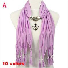 Fashion Accessories For Women Purple Striped Jewellery Pendant Scarf, NL-1791A