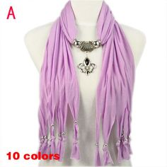 Fashion Accessories For Women Purple Striped Jewellery Pendant Scarf, NL-1791A