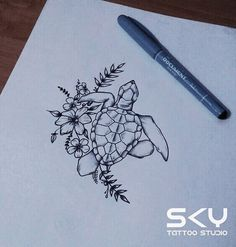 Photo Tattoo by Maria Churai – Turtle Tattoo Sketch – Tattoo Sketches & Tattoo Drawings Future Tattoos, New Tattoos, Body Art Tattoos, Small Tattoos, Tatoos, Sleeve Tattoos, Tattoo Sketches, Tattoo Drawings, Sketch Ink