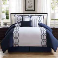 33 Best Navy Blue Comforter Sets Images Bedrooms Navy