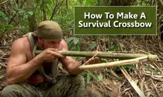 DIY Survival Crossbow - how to build a survival bamboo crossbow... #survival #shtf #diy