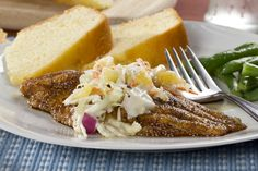 Did you know August is US Catfish Month? Celebrate this tasty white fish by whipping up a summer-worthy dinner of blackened catfish and tropical inspired coleslaw!