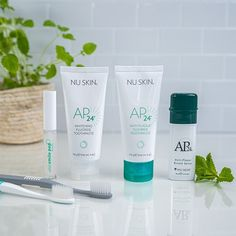 We all dream of a gorgeous shining smile The AP 24 range one of Nu Skins best-selling line-ups is here to make those dreams a reality and leave your mouth clean and minty fresh while its at it. From toothpaste to toothbrush youll find all you need for a bright healthy-looking smile right here in this unique line #antiaging #beauty #health #home #business #vitality #whitening #bleaching #teethwhitening #smile #whitesmile Nu Skin, Ap 24, Xmas Wishes, White Smile, I Site, Teeth Whitening, Good Skin, Aqua, Personal Care
