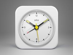 Dribbble - White BRAUN Clock icon by Musical Offering