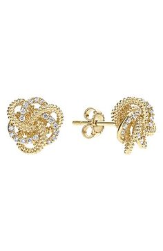 Free shipping and returns on LAGOS 'Love Knot' Diamond Stud Earrings at…