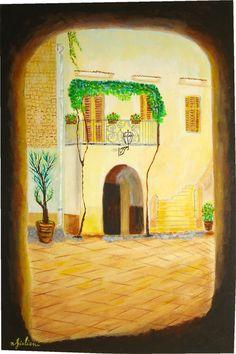 Borgo Rutigliano, Puglia acrilico su legno