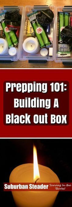 Learn a how to build a basic prepping kit - a Black Out Box - in this informative article. We even provide a list of equipment to get you started! Survival Supplies, Emergency Supplies, Survival Food, Survival Prepping, Survival Skills, Survival Hacks, Emergency Kits, Wilderness Survival, Survival Stuff
